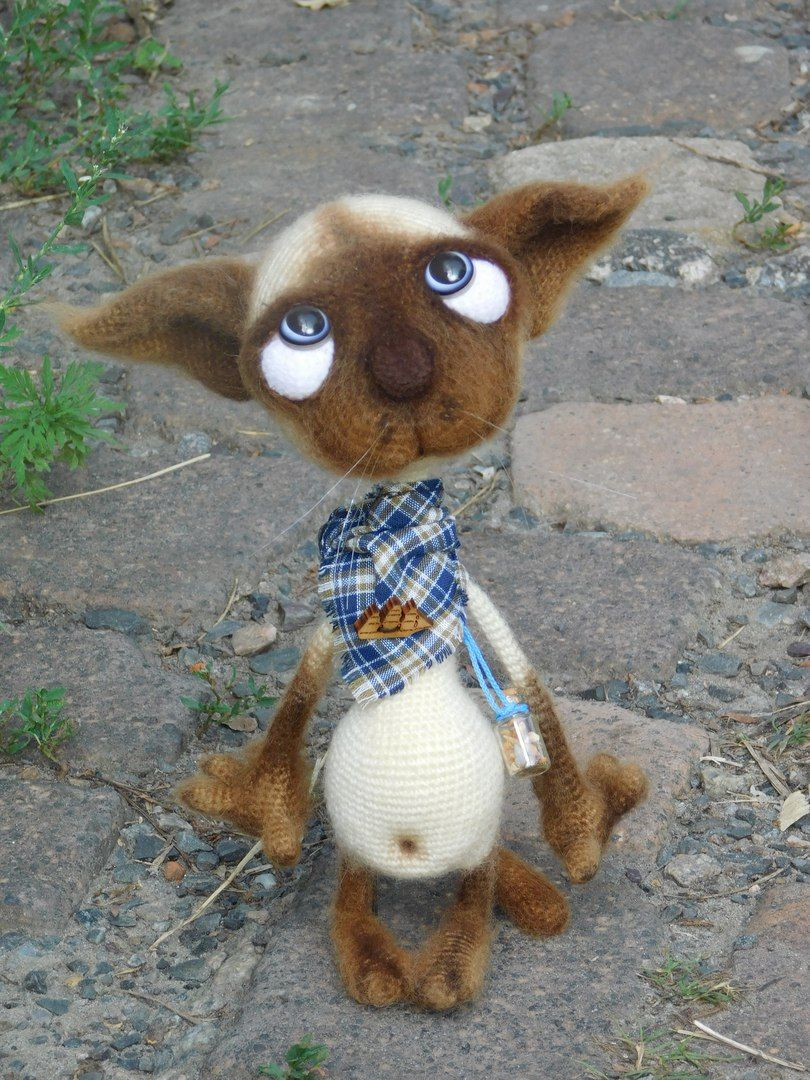 129 Crochet Pattern - Dobby the sad cat - Amigurumi soft toy PDF ...