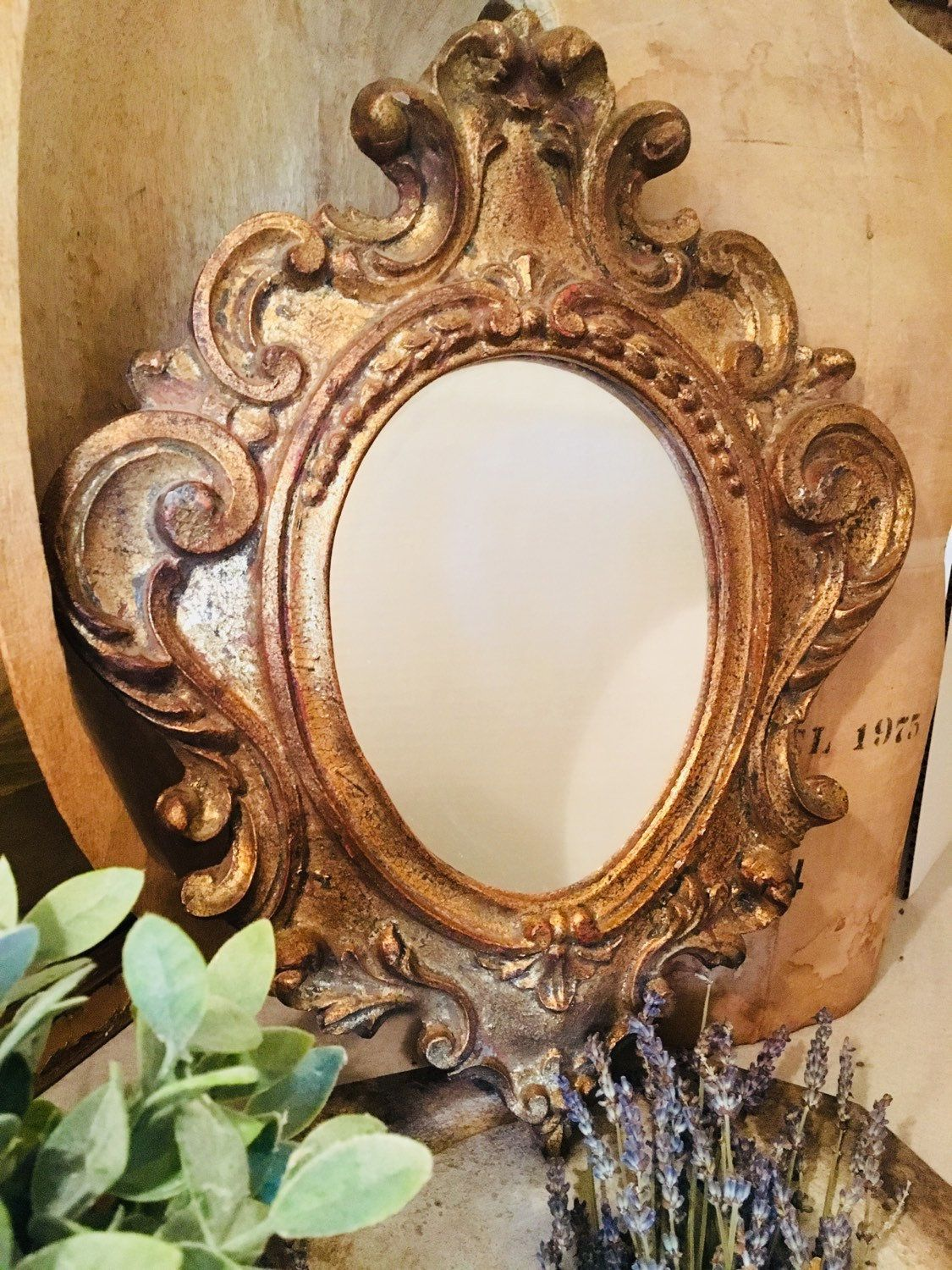 Antique Florentine Mirror, Made in Italy Antiques