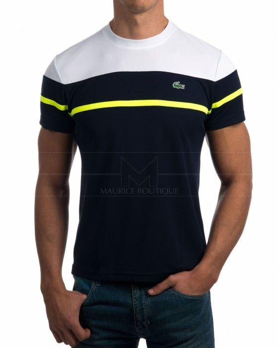 21036d1928607 Camisetas Lacoste - Azul Marino   Blanco   T Shirts   Pinterest ...