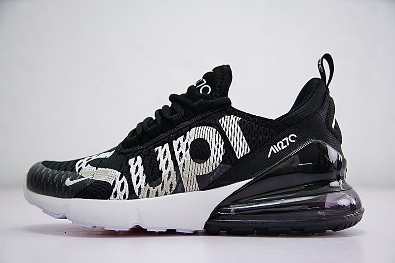 brand new 42884 06ee2 Purchase 2018 Supreme x Nike Air Max 270 Latest Styles 2018 Running Shoes  Sup Black White AH8050-001