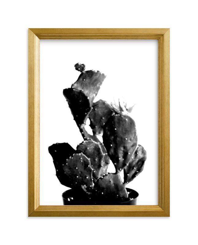 Photo of Black Cactus Art Print