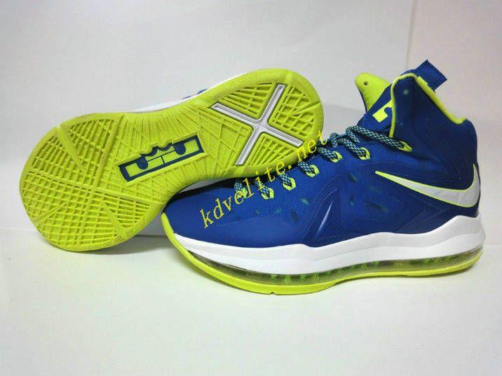 the best attitude aa9d0 9a149 Nike Lebron X Elite Sprite Royal Blue Metallic Silver Volt Lime Green