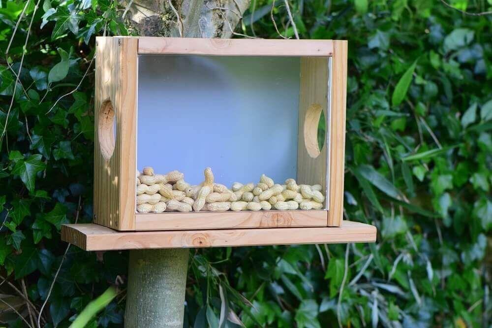 Eichhörnchen Futterhaus - Bauanleitung Eichhörnchenhaus selber bauen #gardencraft