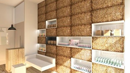 tienda ambientada con fardos de paja ideas ecolgicas y baratas para decoracion
