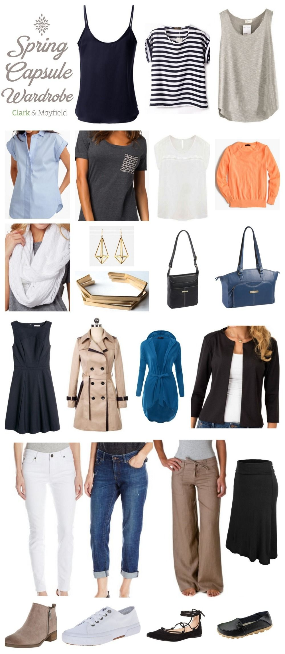 Capsule wardrobe tools and resources and Spring 2016 trends -  the perfect Spring 2016 Capsule Wardrobe
