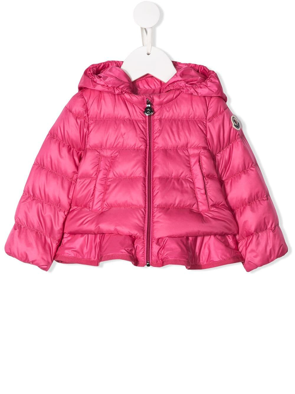 2468840d7 Moncler Kids ruffled hem padded jacket - Pink in 2019 | Products ...