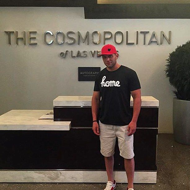 Our Clothe Ohio fan made a winning bet with his wardrobe choice in Las Vegas! #vivalasvegas #clotheohioglobetrotter