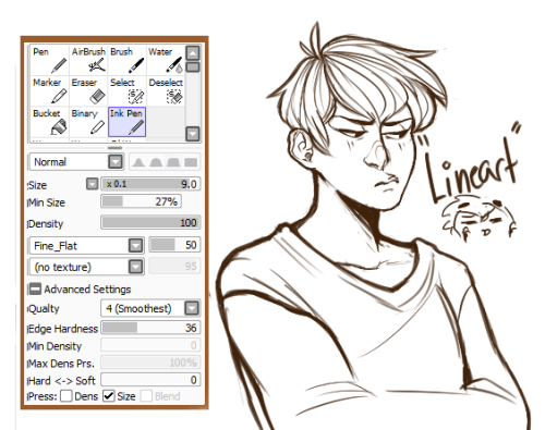 Sai Lineart : Sai lineart brush google search drawing refs