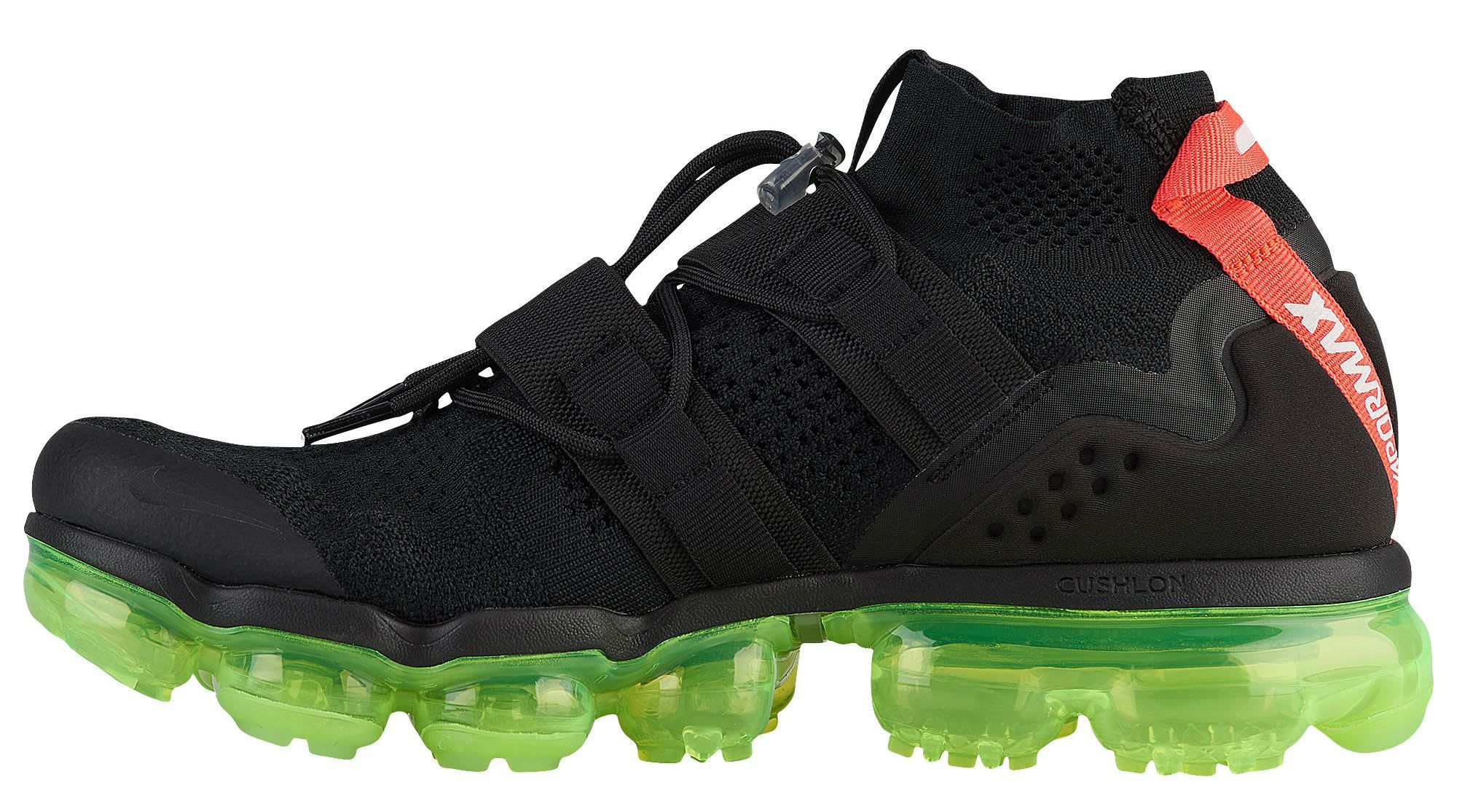 7d9b57ae60ef Nike Air VaporMax Flyknit Utility Yeezy Black Volt Crimson Release Date  AH6834-007 Medial