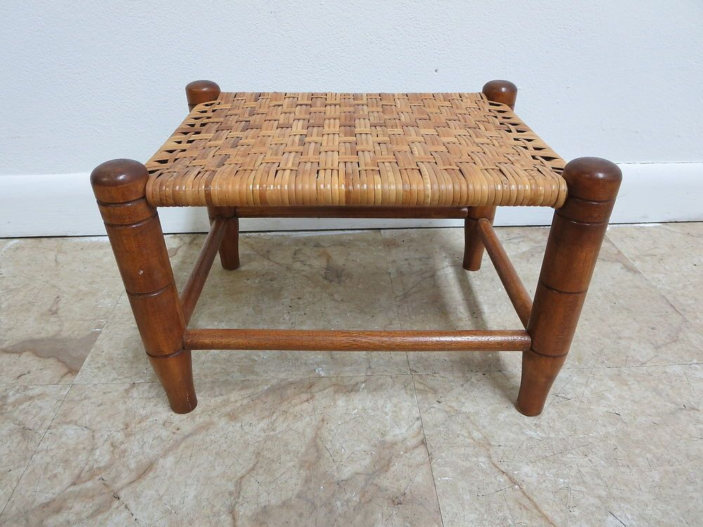 Tell City Maple Petite Split Reed Woven Foot Stool Ottoman Becnh Seat Chair & Tell City Maple Petite Split Reed Woven Foot Stool Ottoman Becnh ... islam-shia.org