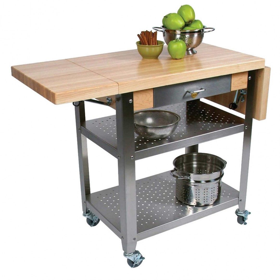 5 Common Misconceptions About Elliptical C-Table Kitchen Island With Butcher Block Top | Small Kitchen Storage, Small Kitchen Storage Solutions, Americana Kitchen
