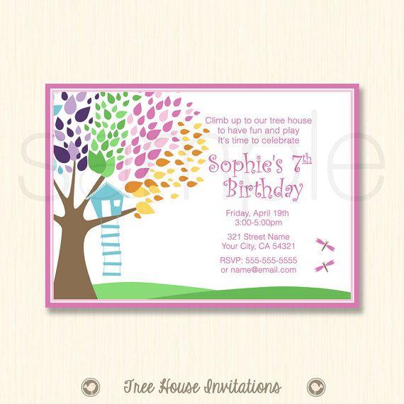 Tree House Birthday  Print Ready by TreeHouseInvitations on Etsy, $12.95