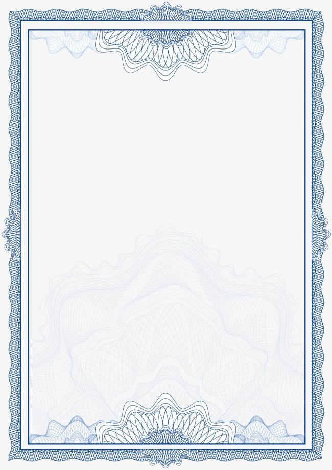 Vector European Pattern Border Job S Floral Border Design Certificate Design Template Frame Border Design