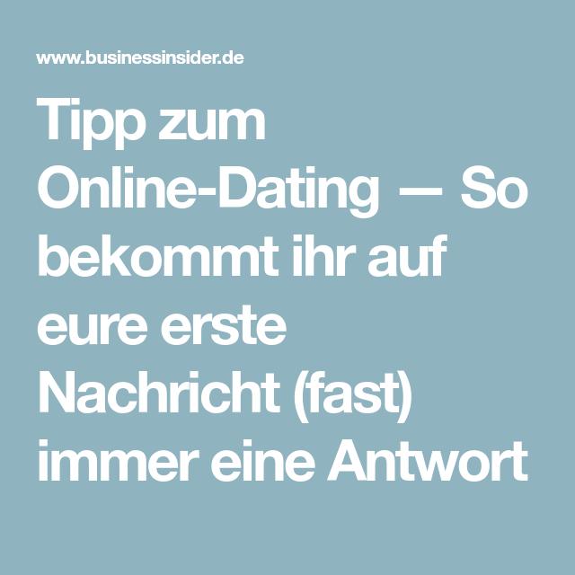 Dating seiten erste nachricht