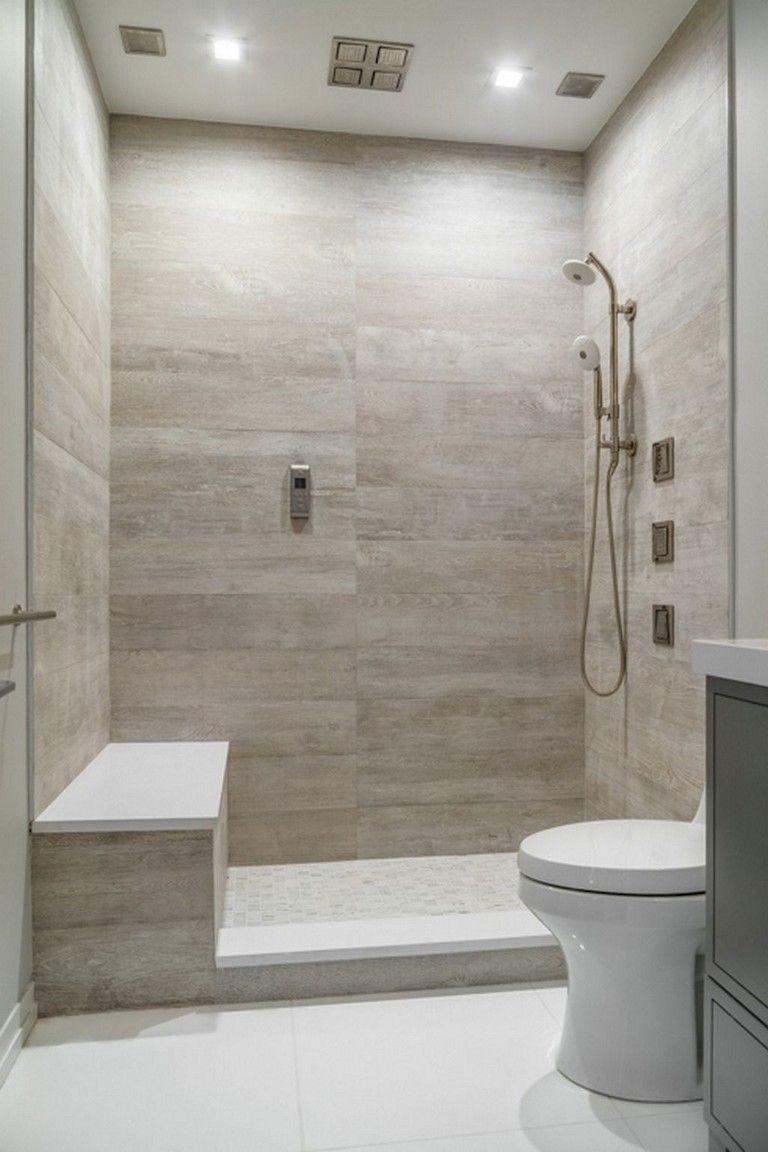 57 Amazing Small Master Bathroom Tile Makeover Design