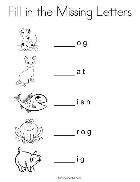 Fill In The Missing Letters Coloring Page Kindergarten Phonics Worksheets,  English Worksheets For Kindergarten, Phonics Kindergarten