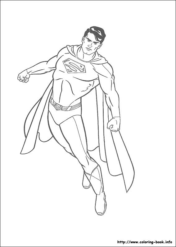 Superman coloring picture Kids Pinterest Superuomo Immagini