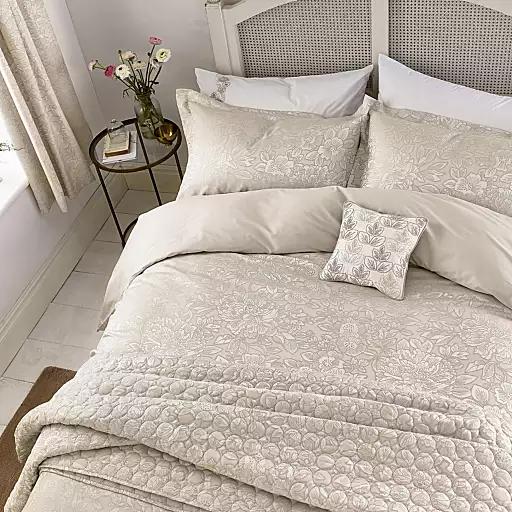 Cream Brown Gold Size Double Duvet Covers Pillow Cases Home Debenhams Jacquard Bedding Double Duvet Covers Purple Bedding