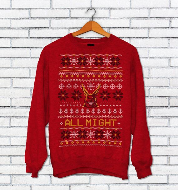 a96b12dd99702a All Might Ugly Christmas Sweater - Boku no Hero Academia Inspired - BNHA  Sweater - Plus Ultra MHA Ju