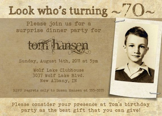 Milestone Birthday Invitation for Adults or by PhotoGreetings ...