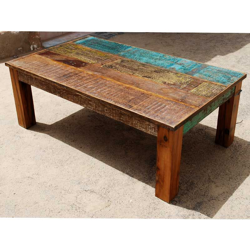 This Appalachian Rustic Mixed Wood Coffee Table Is Built