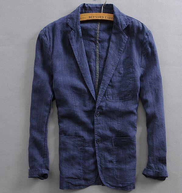 e3076a03191e Summer high quality thin Single breasted suit male brand linen blazers men  blazer jacket mens linen suit coat casual clothing