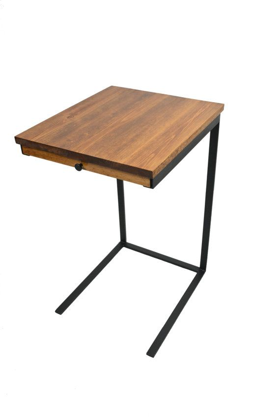 Tv tray table with a drawer laptop desk side table for Tray side table