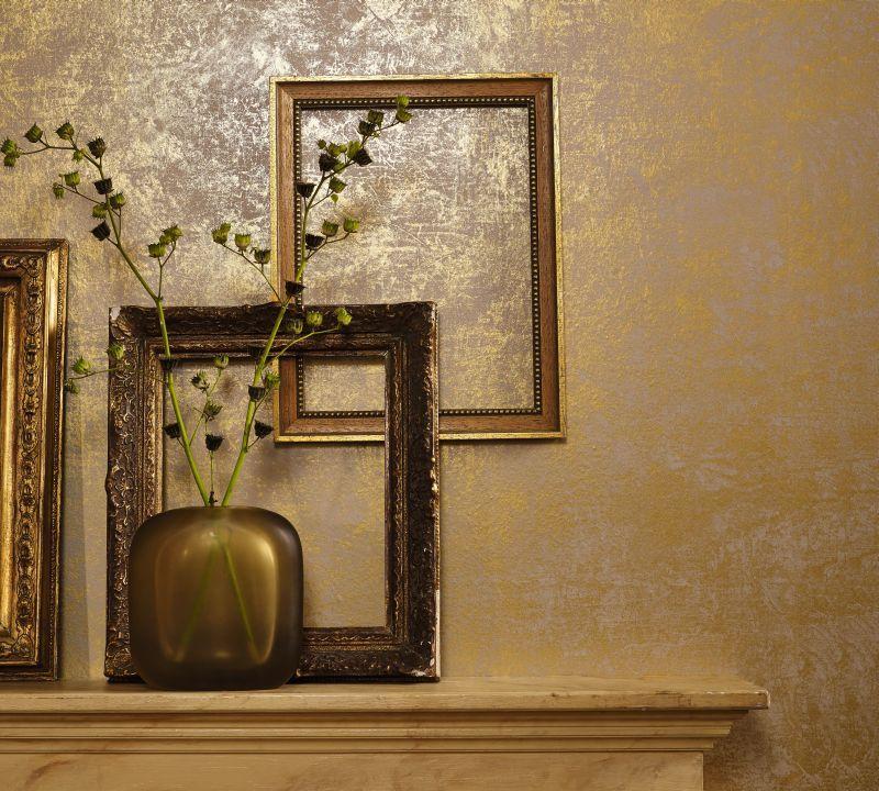 Tapete gold (Muster und Dekobeispiel) umbauplanung Pinterest - tapeten wohnzimmer braun