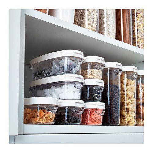 IKEA   IKEA Vorratsbehälter Mit Deckel, Zum Auffüllen Den Deckel Komplett  Abnehmen, Zum Einfachen Ausgießen/ Schütten Die Vordere Deckelklappe  öffnen.Die Amazing Pictures