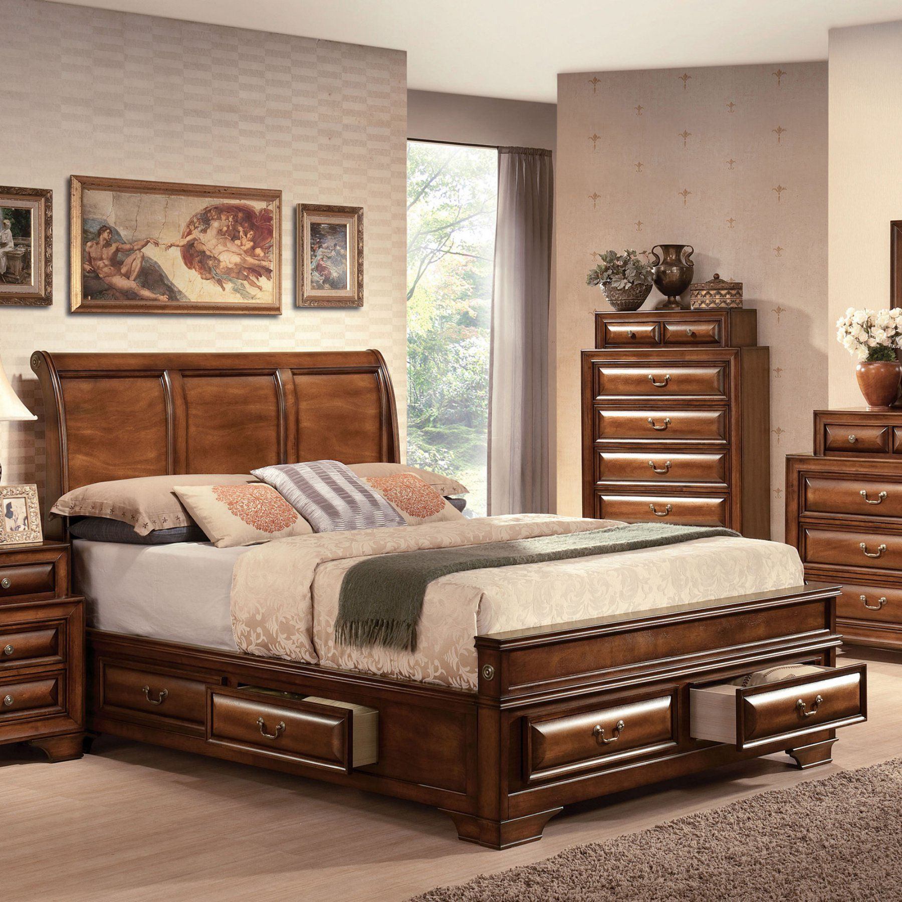 Affordable Contemporary Bedroom Furniture: Acme Furniture Konane Sleigh Bed - 20450Q