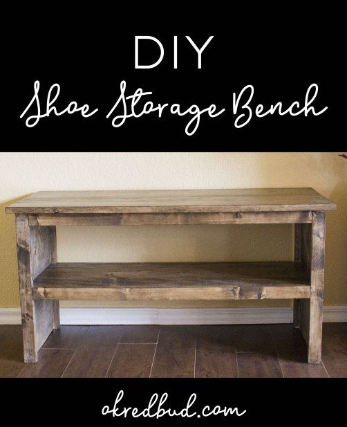 DIY Wood Shoe Storage Bench! Great for entryway, mudroom, spa bench ...