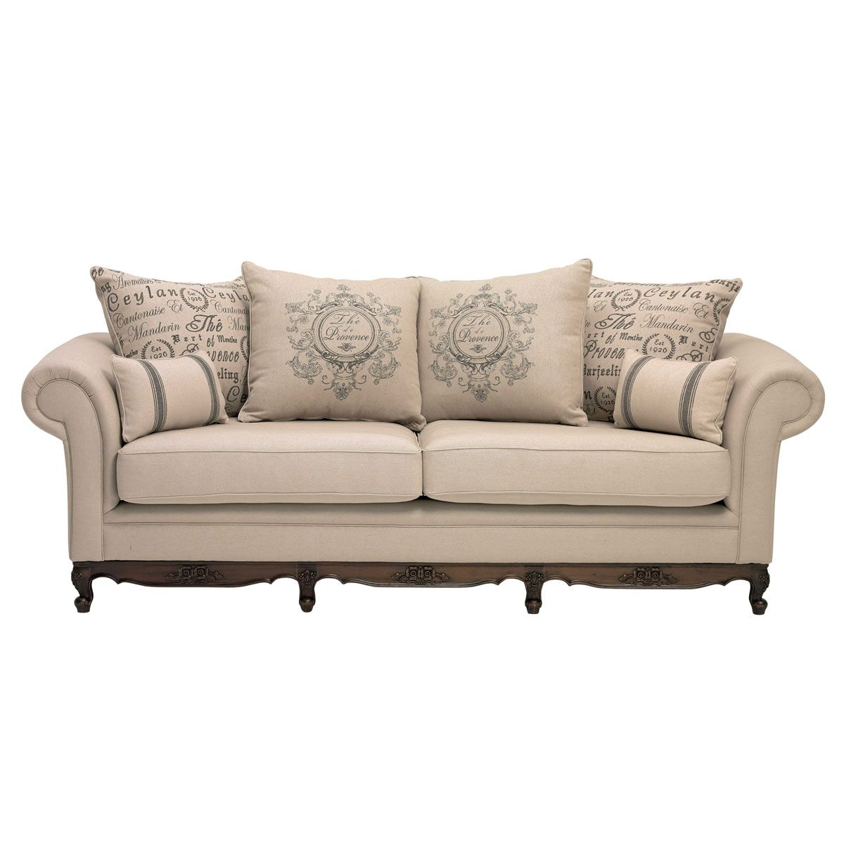 Country Leather Sofa: Provence 3-seater Sofa From Domayne