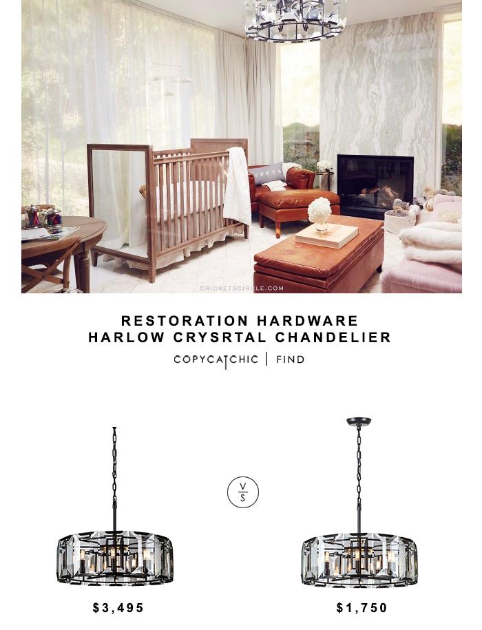 Restoration Hardware Harlow Crystal Chandelier For 3495 Vs Wayfair Monaco Drum Pendant 1750 Copy Cat