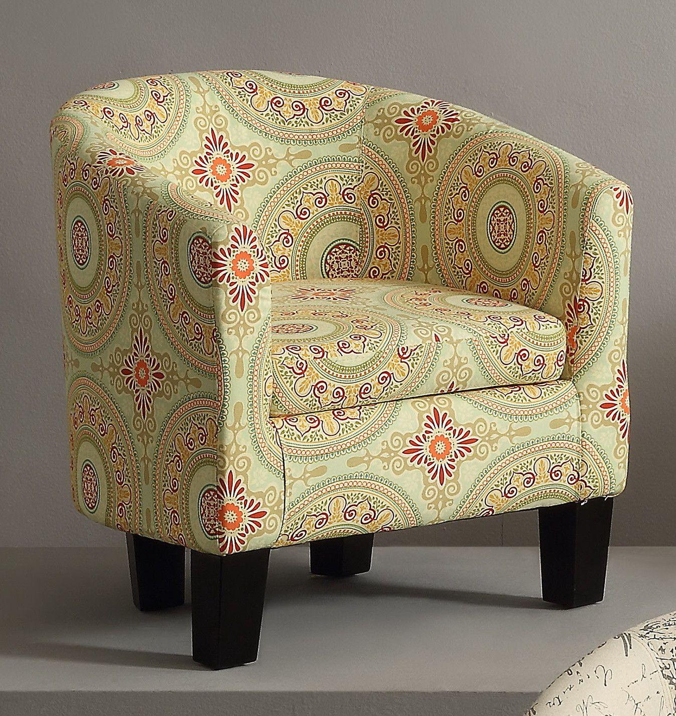 You ll love the Florinio Floral Medallion Barrel Chair at Wayfair