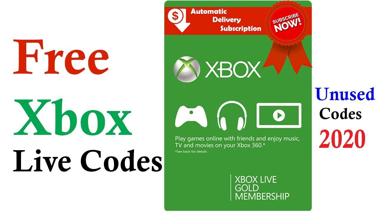 Pin On Free Xbox Live Codes
