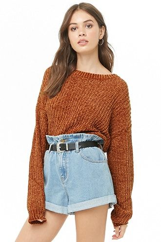 c9c5317480 Ribbed Chenille Sweater. Ribbed Chenille Sweater