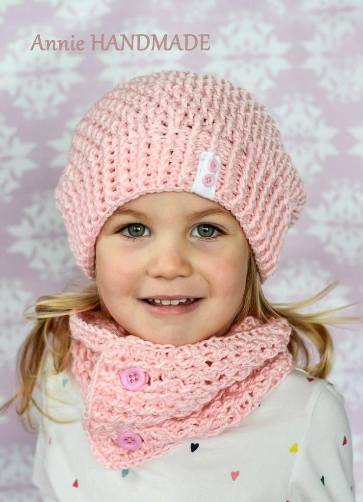 Setík+růžový+-+homeleska+a+nákrčník+Materiál+akryl +Setík+je+vhodný+na+podzim,+zima+Velikost+na+přání+Dá+se+domluvit+i+na+jiné+barvě