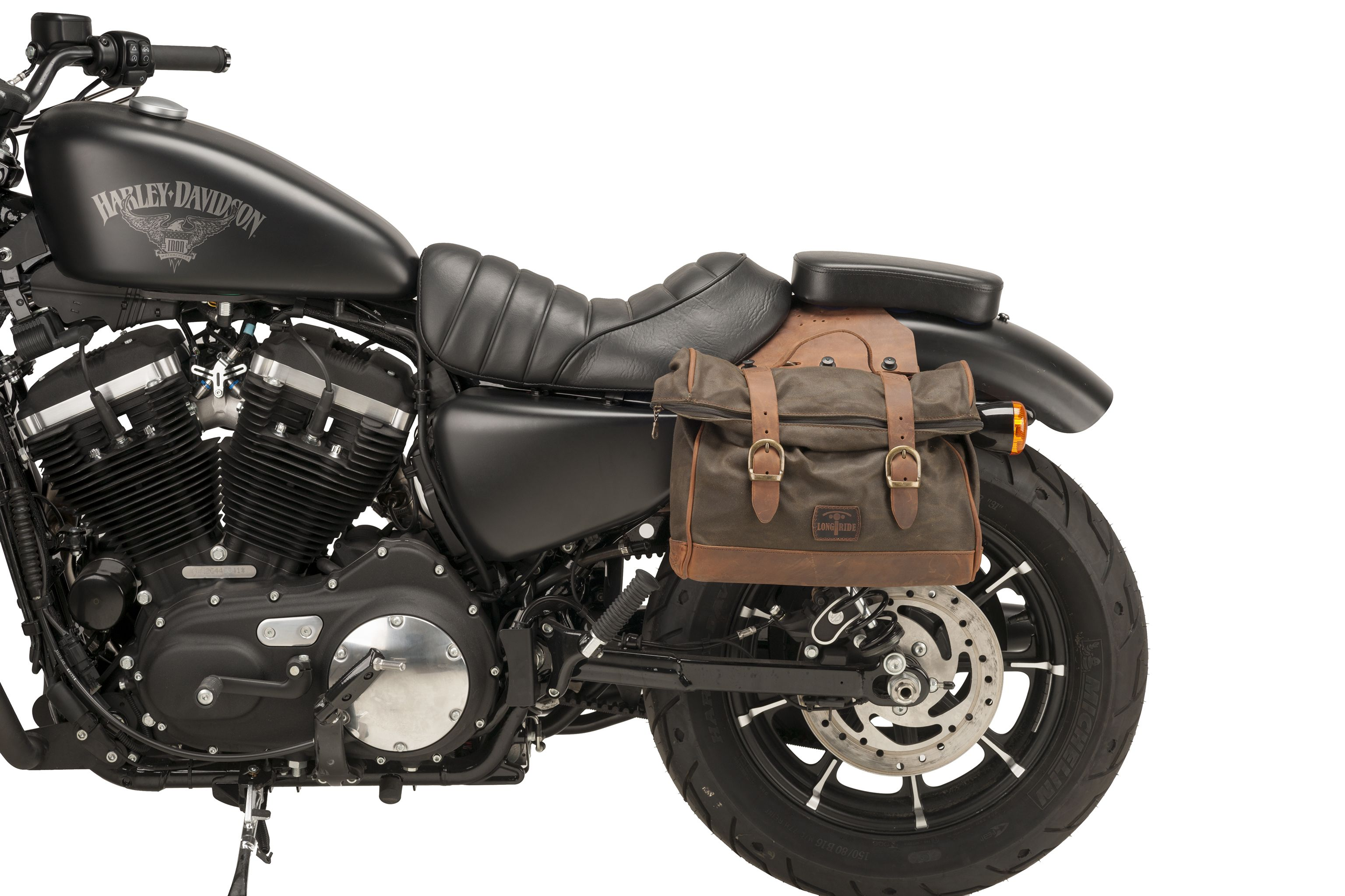 Soft Leather Bags For Harley Sportster By Customacces Harley Davidson Sportster 883 Sportster 883 Iron Harley Davidson Sportster