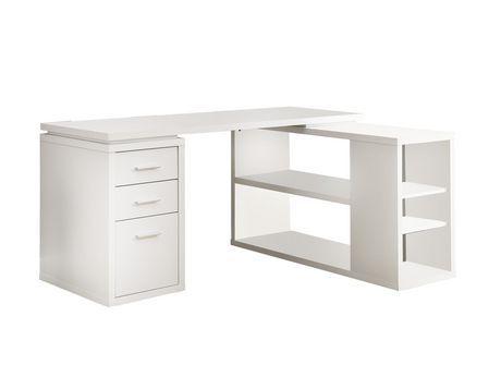 Monarch Specialties Inc Monarch White Hollow Core Corner Desk White Desk With Drawers Corner Desk Corner Computer Desk