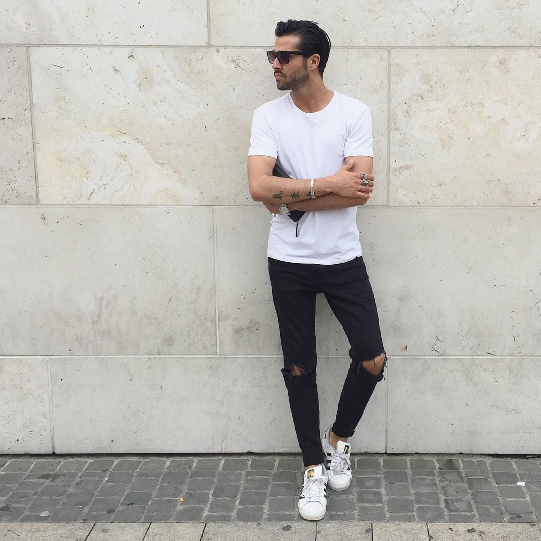 How To Wear White Sneakers 10 Amazing Outfit Ideas Men 39 S Fashion Man Outfit And Fashion