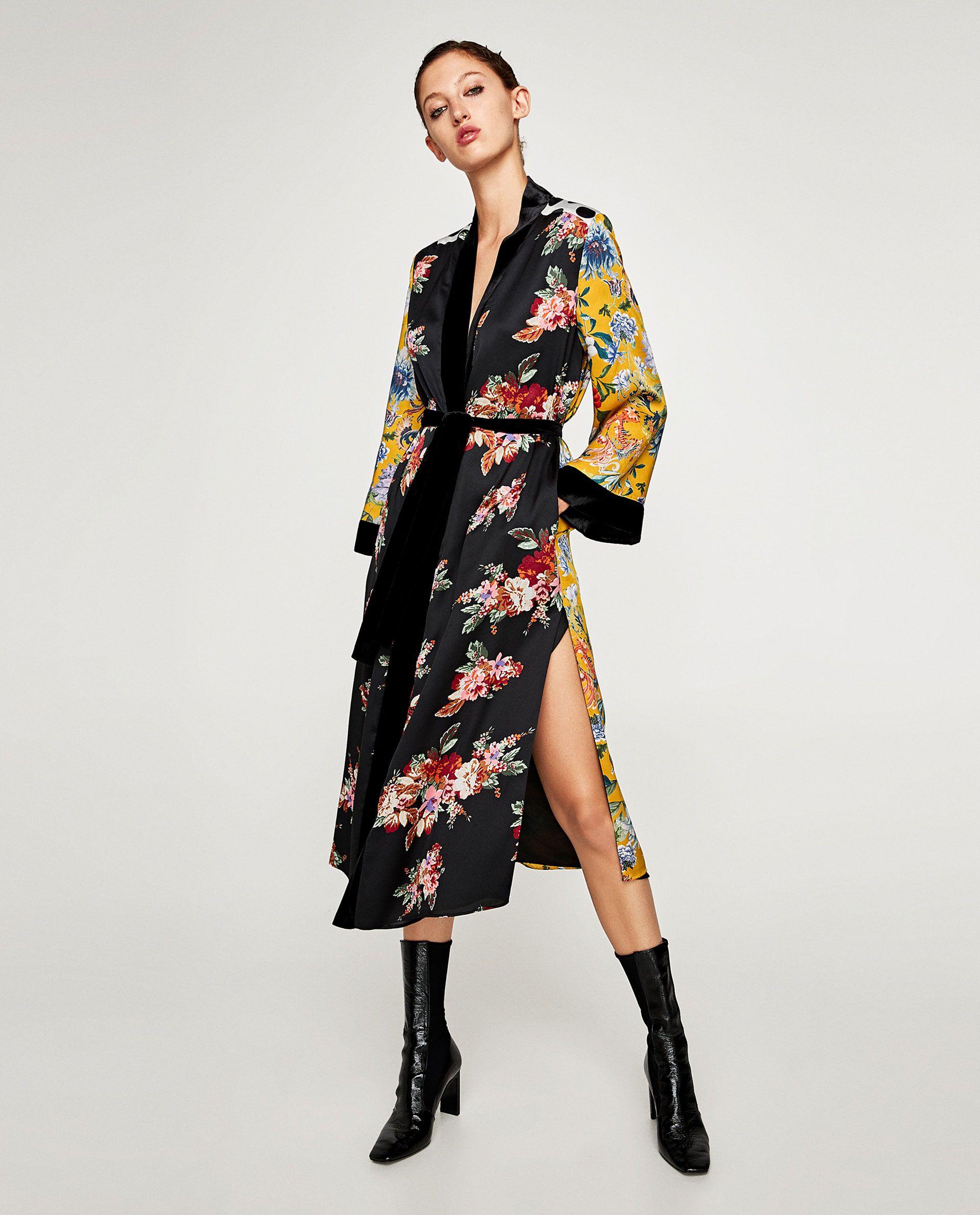 9700ef31 KIMONO PATCHWORK COMBINADO | Wishlist - ZARA | Kimono fashion ...