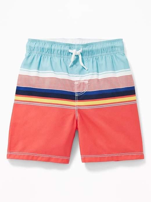 921ef2e7b5 Old Navy Functional Drawstring Multi-Stripe Swim Trunks for Toddler Boys