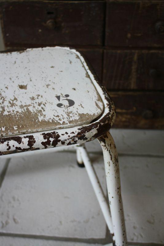 white vintage stool