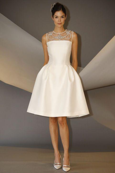 10 Short Wedding Dresses From Carolina Herrera S Latest Collection Carolina Herrera Bridal 2nd Wedding Dresses Perfect Wedding Dress
