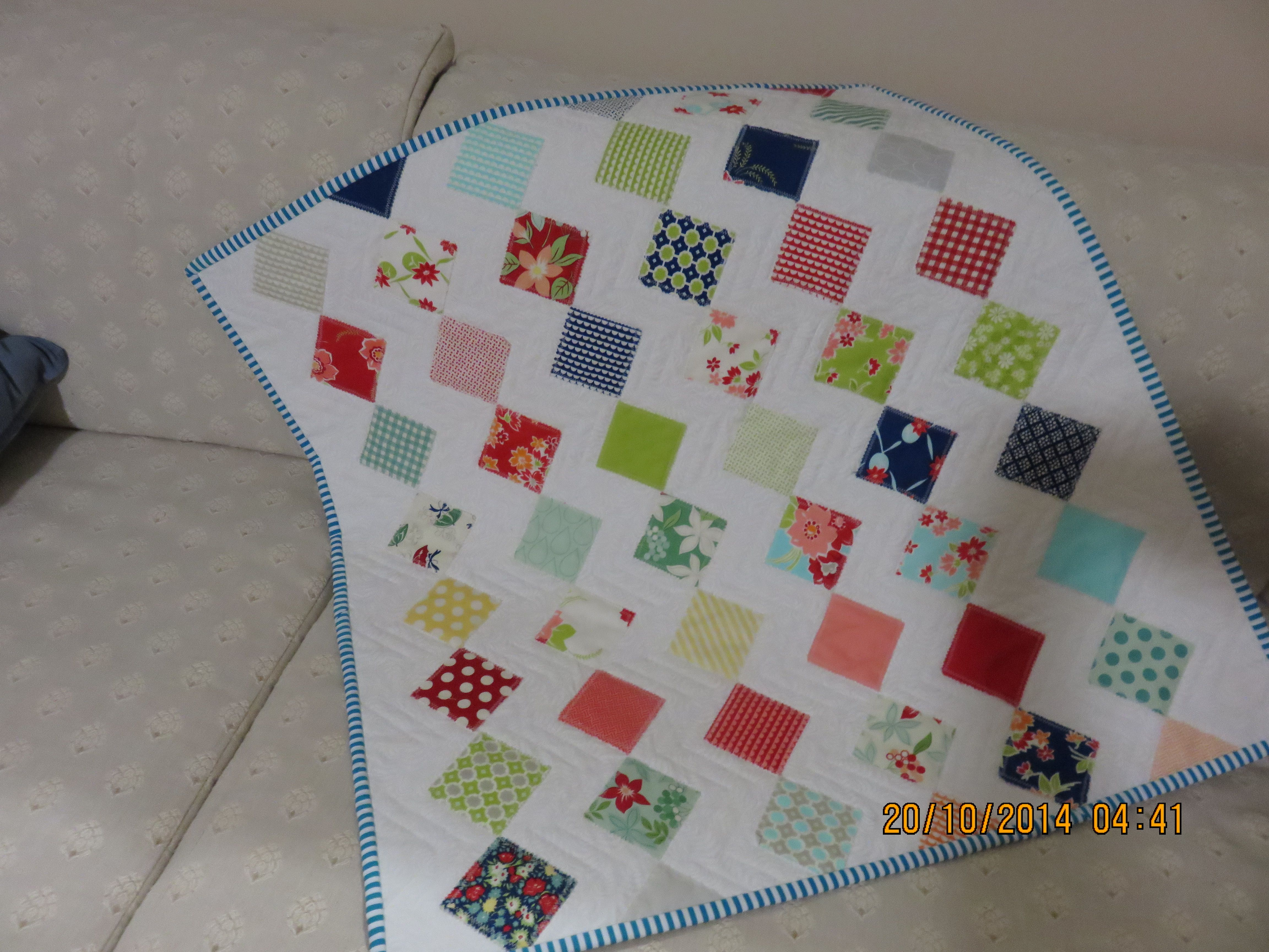 Zig Zag Appliqued Baby Basinet Quilt My Completed quilts