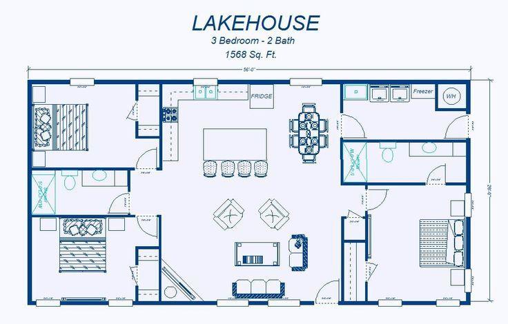 2 Bedroom House Simple Plan   David\'s Ready Built Homes - Floor ...