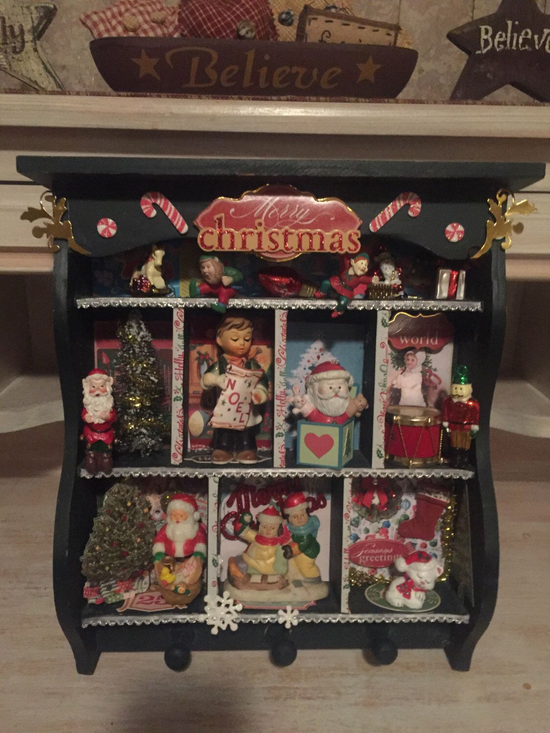 Christmas Configurations Box by HolidayCreationsArt on