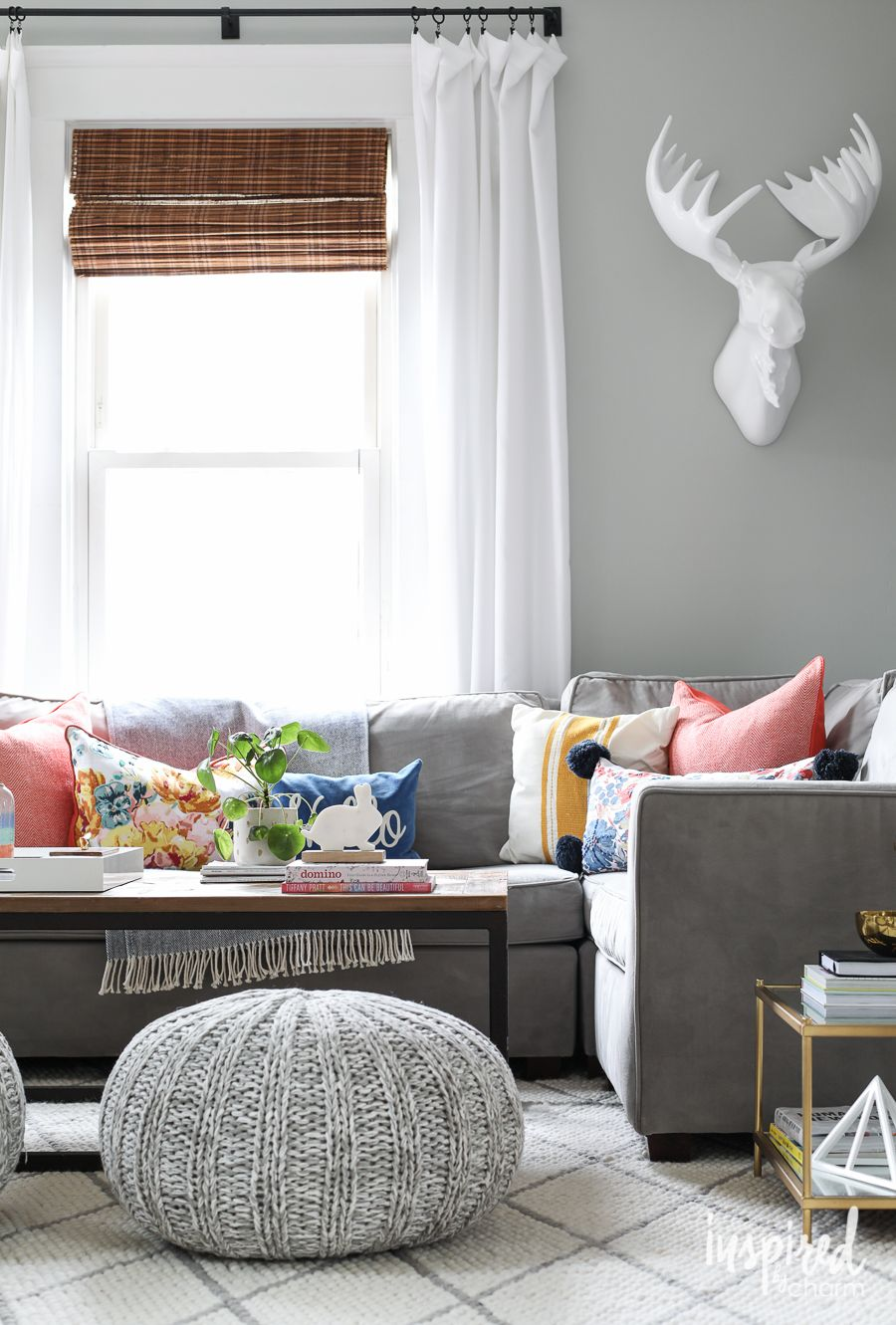 Pink for Spring: Living Room Refresh | Colorful living rooms, Living ...