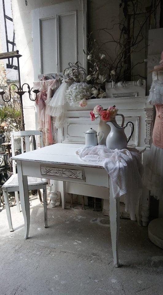 Tisch Pflanztisch Esstisch Tisch Shabby Vintage