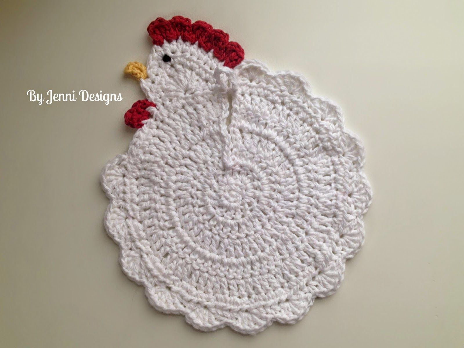 Chicken Dish Rag or Pot Holder Crochet Pattern (By Jenni Designs ...